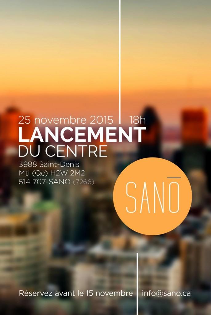 LANCEMENT SANO – 25 novembre 2015